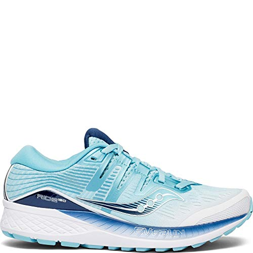 Saucony Women's Ride ISO Shoes, White/Blue, 7.5