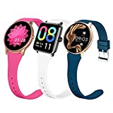smaate Watch Band Compatible with YAMAY SW022, ASPTK LW11, Soundpeats Pro1, Dirrelo Fitpolo Hamile Veryfit GT01, Cubitt CT2Pro, Fitniv IW1 Smartwatch, Slim Silicone Replacement strap for Women
