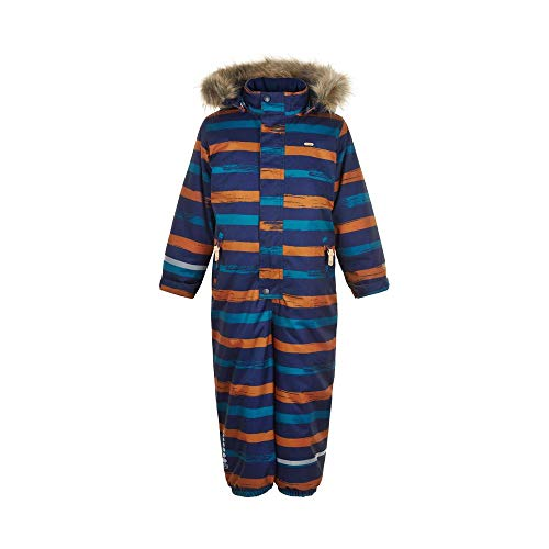 MINYMO Boys Herringbone Snowsuit, Navy, 110