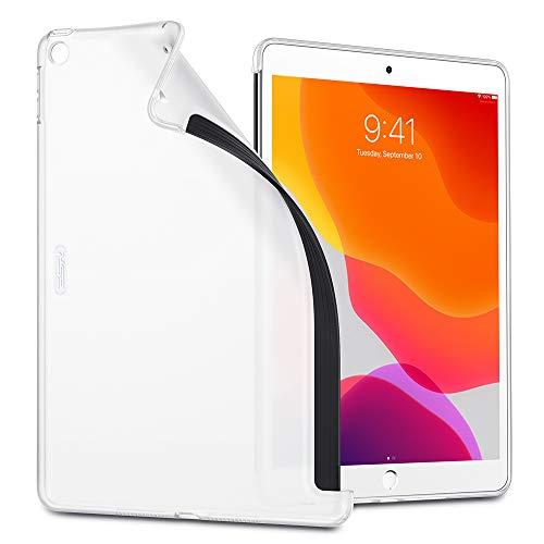 ESR Hülle Kompatibel mit iPad 10,2 2019 Hülle für iPad 7. Generation - TPU Backcover Rückseiten Hülle Weiche Silikonhülle [passt auf Smart Keyboard und Smart Cover]- Rückseite Schutzhülle -Durchscheinend