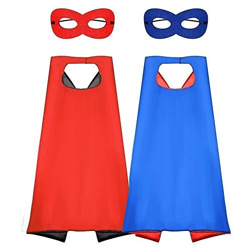 WENTS Disfraz De Superhroes 2Pcs Logo Brillante de Captain America y Spiderman para nios Cosplay Disfraces Artculos de Fiesta Regalos de cumpleaos Disfraz de Halloween