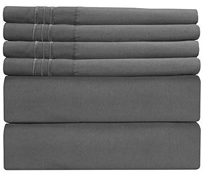 Extra Deep Pocket Sheets - 6 Piece Sheet Set - King Size Sheets Deep Pocket - Extra Deep Bed Sheets - Deep King Fitted Sheet Set - Super and Ultra Deep Sheets - For Deep Pockets Mattress - Fits Easily
