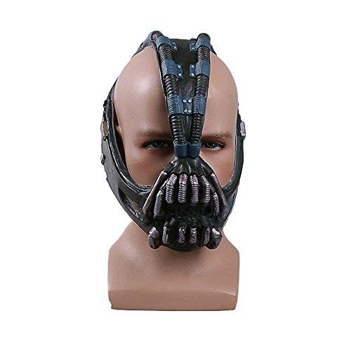 nihiug Batman Dark Knight Rise COS Bain Máscara Casco Batman Halloween Máscara Props Bane,Latex-OneSize