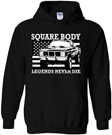 Square Body Truck Hoodie Squarebody Sweatshirt Black product image