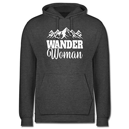 Sonstige Sportarten - Wander Woman - weiß - M - Anthrazit meliert - Spruch - JH001 - Herren Hoodie und Kapuzenpullover für Männer
