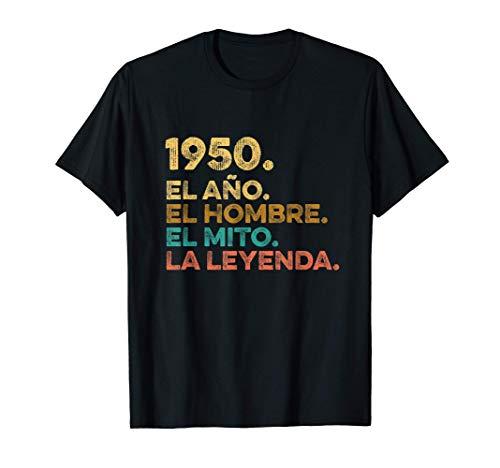 Hombre Año Hombre Mito Leyenda - Cumpleaños Regalo Vintage 1950 Camiseta
