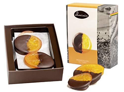 Duva Premium Orangenscheiben, in belgische dunkle Schokolade getauchte Orangenscheiben 200g