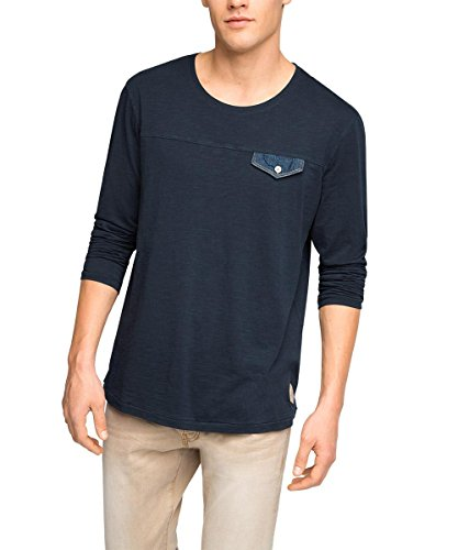 Edc by Esprit Slim Fit T-Shirt, Bleu (Navy 400), X-Large (Taille Fabricant: XL) Homme