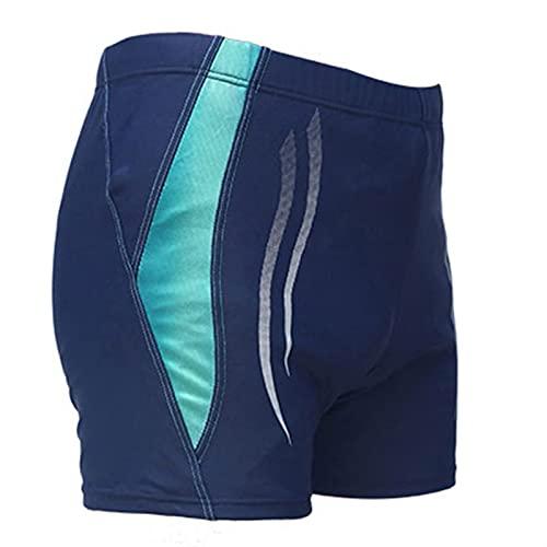 W.Z.H.H.H Costume da Bagno Fit Vita Plus Size Swimwear Swimwear Tronchi da Bagno Uomini Swim Wear Swimsuit Surf Shorts Shorts Slip Board 4XL 5XL 6XL (Color : Blu, Size : XL)