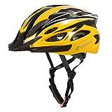 CHILEAF Casco Bicicleta Adulto de 56 a 64 cm con Visera, Casco Bici 18 ventilaciones, Cascos de Bicicleta de Ciclismo Ajustables, Ligeros, Hombres y Mujeres para Skateboard Mountain Road Bike (Negro)…