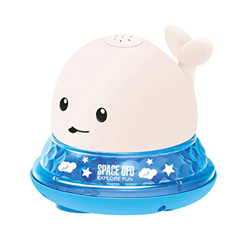 1 2 Year Olds Whale Tub Shower Toy Electric Light Induction Spray Ball Luminous Water Ball Shower Toys Water Spray Toys for 12 18 Months Toddlers Infants Girls Boys Acutty Baby Bath Toys