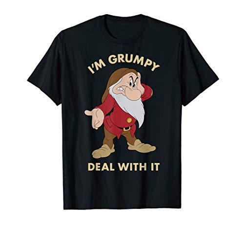 Disney Snow White I'm Grumpy Deal With It Portrait T-Shirt