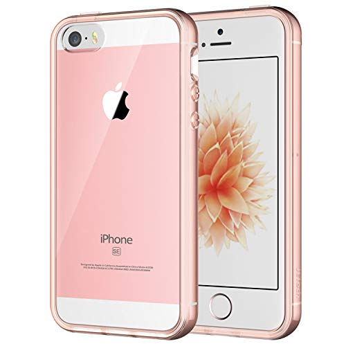 JETech Case for Apple iPhone SE 2016 (Not for 2020), iPhone 5s and iPhone 5, Shockproof Bumper Cover, Anti-Scratch Clear Back, Rose Gold