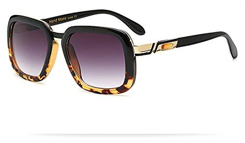 Burenqi@@ Gafas de Sol Hombre Gafas Vintage Diseñador Marca