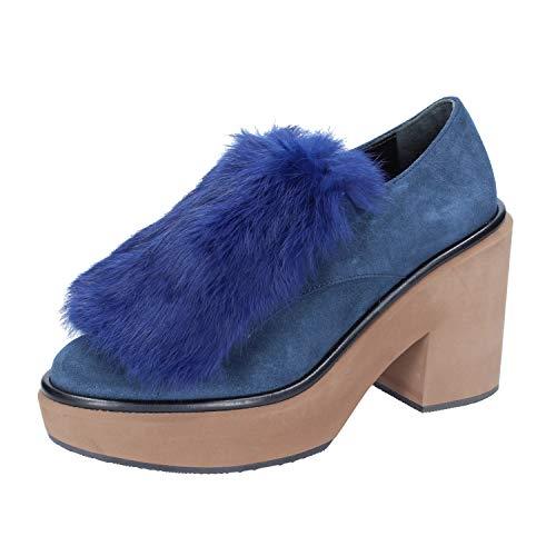 PALOMA BARCELO Zapatos Elegantes Mujer Gamuza Azul 38 EU
