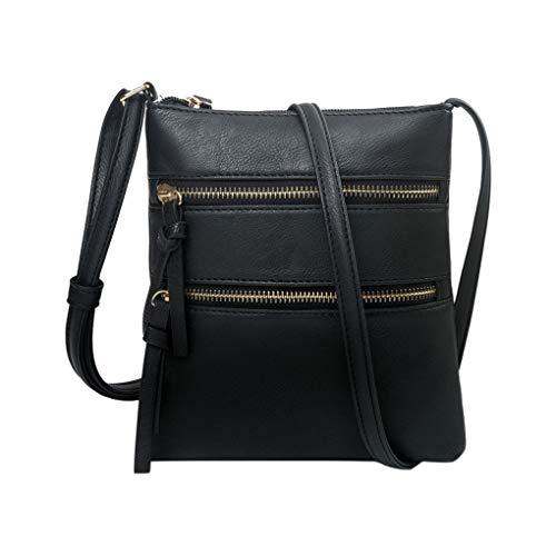 Handy Schultertasche für Damen/Skxinn Mädchen Sportliche Handtasche Umhängetasche Schultertasche aus PU-Leder für Frauen, Wandern, Reisen,Party,Ausverkauf(Schwarz)