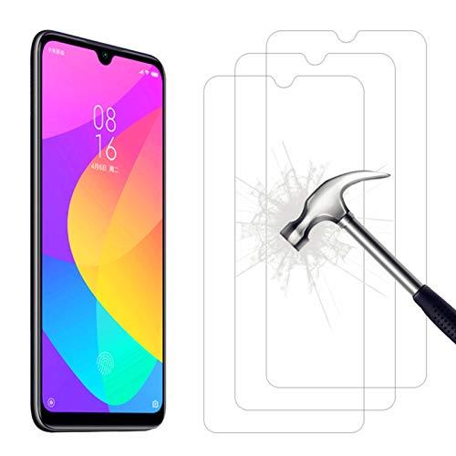 AhaSky Protector de Pantalla para Xiaomi Mi A3 Cristal Templado, Resistente a Arañazos Vidrio Templado Cristal Templado, 2.5d Borde Redondo/9H Dureza/Alta Definicion - 3 Piezas Protector para Mi A3