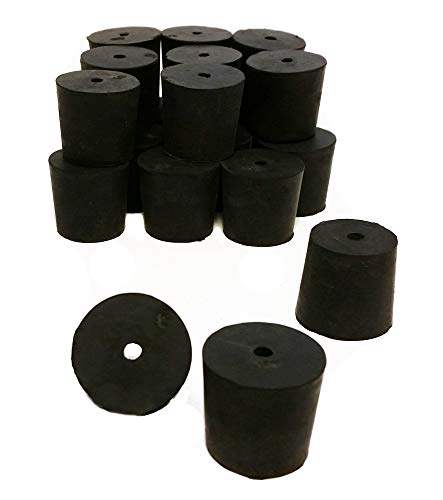 GSC International RS-5-1 Rubber Stoppers, Size 5, Drilled 1-Hole (1-Pound Pack),Black