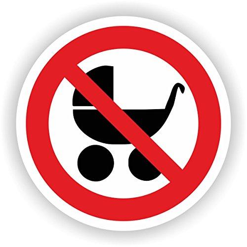 Kinderwagen hier abstellen verboten / VER-09 / Sicherheitszeichen / Piktogramme / DIN EN ISO 7010 (10cm)