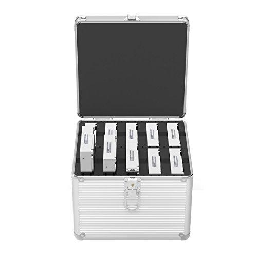 ORICO Alluminio scatto esteso hard disk protezione 10 bay stoccaggio scatola Scatola di protezione per disco rigido in alluminio da 3,5 pollici - silver