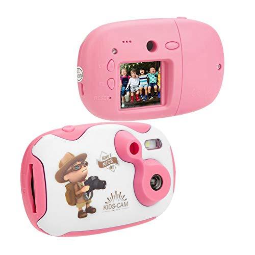 Eboxer Mini-camera voor kinderen, 0,3 MP, 1,44 inch, HD-display, geïntegreerde microfoon, ondersteunt TF-kaart tot 32 G, cadeau voor verjaardagen, Kerstmis, voor jongens en meisjes, Roze