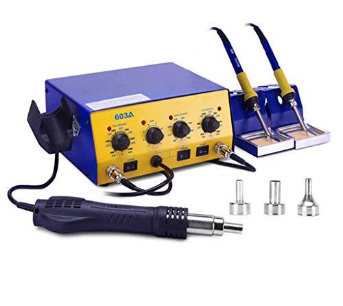 2 in 1 Heißluftpistole Entlötstation Doppel-Bügeleisen elektronische Wartung Lötstation 603A Konstanttemperatur-Lötstation