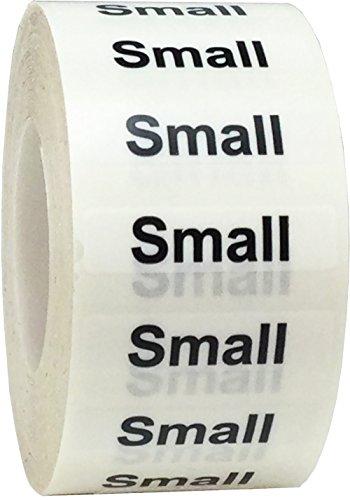 Trasparenti Taglie dei Capi d'Abbigliamento Small Etichette a Striscia, 32 x 127 mm 1,25 x 5 Pollice Adesivi per l'Abbigliamento 125 Pacchetto