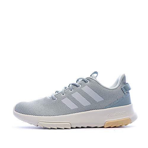 adidas Performance Racer Sneaker Damen grau/hellblau, 5.5 UK - 38 2/3 EU - 7 US