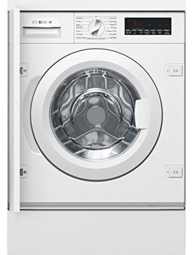Bosch WIW28440 Serie 8 Inbouwwasmachine voorlader/A+++/137 kWh/jaar/1400 rpm/8 kg/wit/EcoSilence Drive/trommelreiniging wasmachine