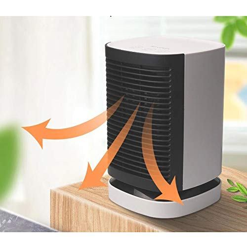 New Zincoty Portable Vertical Household Heaters With Head In Wide Angle 90℃, Cold And Warm Wind Du...