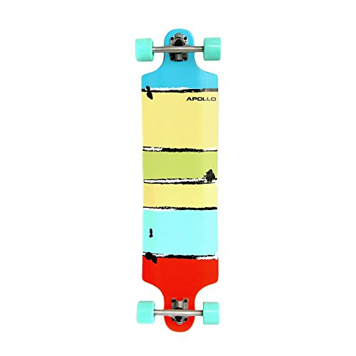 Apollo Twin-Tip Topmount Longboard, Maui Colour, ABEC Kugellager, Twin-Tip Freeride Skaten Cruiser Board