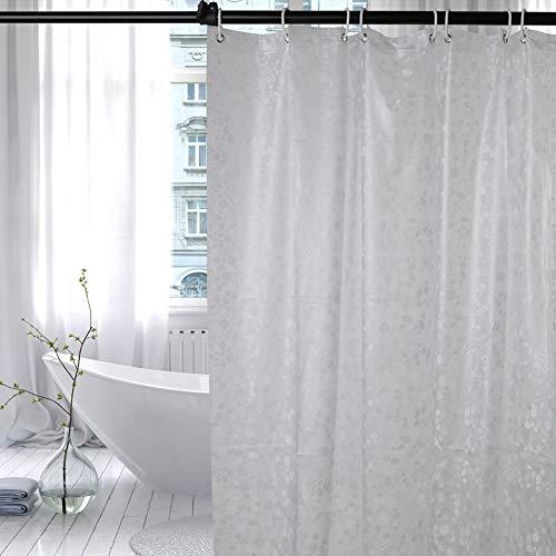 hellomagic Duschvorhang Anti-Schimmel, Anti-Bakteriell, Wasserdicht, Nicht Gerüche,BPA-frei, 3D-Design Badvorhänge für Badezimmer Badewanne(180 x 200 cm Kopfsteinmuster)