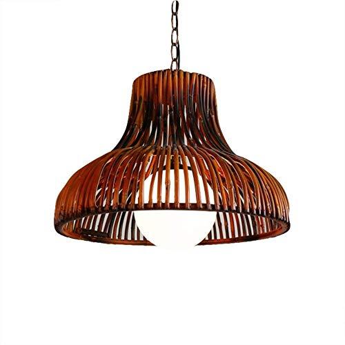 ZSX La iluminación de Techo de bambú ratán Retro de la lámpara E27 Restaurante Creativo de la lámpara Accesorio Colgante, por Cocina Comedor Dormitorio Granja luz café de la Barra Colgante
