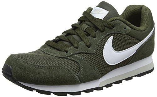Nike MD Runner 2, Zapatillas de Gimnasia para Hombre, Gris (Cargo Khaki/White/Light Bone 301), 40.5 EU