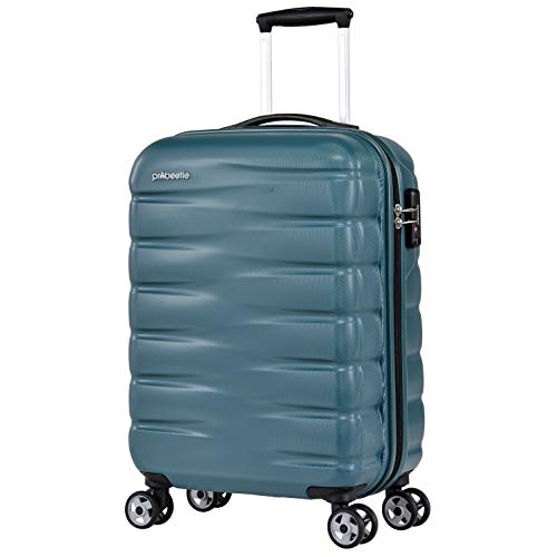 Probeetle by Eminent Hand Luggage Voyager VII 2.0 S 55cm 40L Carry-on Travel Suitcase Lightweight Hardside Holdall Cabin Ocean Blue