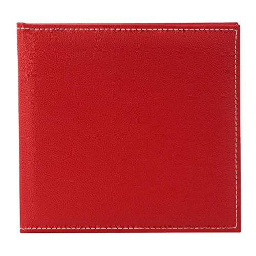 Goldbuch gastenboek met bladwijzer, Cezanne, 25 x 23,5 cm, 176 chamoiskleurige blanco pagina's, kunstleer, rood, 50817