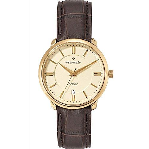 Dreyfuss & Co Watches DGS00101-03 DGS00101/03 - Reloj para Hombres, Correa de Cuero Color marrón
