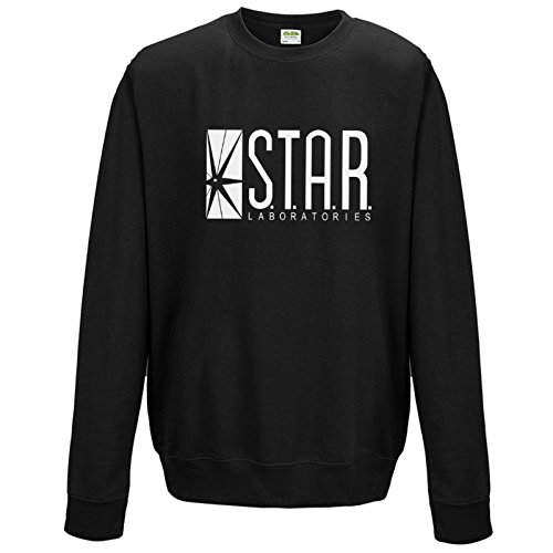 Sudadera Ambrat The Flash TV Series S.T.A.R.Sudadera de Laboratories. Negro negro Large