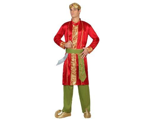 Atosa-22783 Disfraz Hindú, color rojo, M-L (22783)