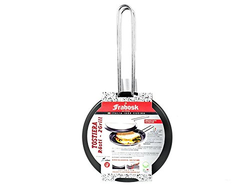 Frabosk Girafrittata Hamburghiera Tostiera CASALINGHI Doppio Grill Antiaderente cm18 Utensili da Cucina, Alluminio, Argento, 18 cm