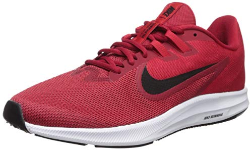 Nike Men's Downshifter 9 Running Shoe, gym red/black - university red - white, 9.5 Regular US