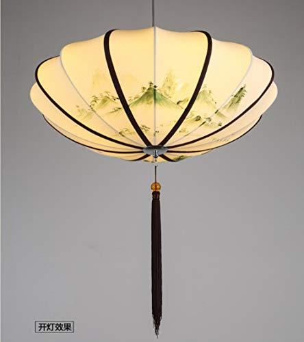 2020 Latest Design 2020 lampadari da ristorante cinese vintage paesaggio pittura ristorante Tea sala da tè lampade a mano tessuto lanterne dipinte a mano