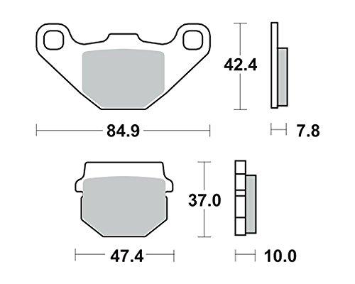 Bremsbeläge TRW MCB 522 für TGB 50 Bullet RS, RR 06-11 (hinten)