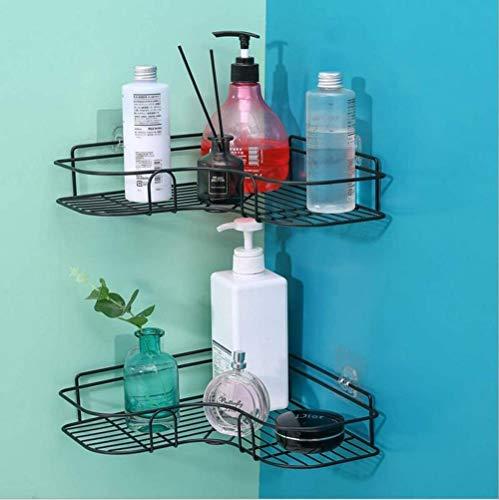 Zonder hoekplank badkamer plank douchebakken boren douche plank zelfklevende lijm mat hoekplank roestvrij staal badkamer keuken (zwart)