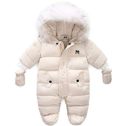 Traje de Nieve para Bebé Mameluco de Lana Mono de Invierno Espesar Peleles Infantil Pijama Caliente Ropa de Dormir con Capucha