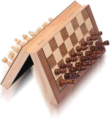 Juego de ajedrez Juego de ajedrez magnético de 34 cm Tablero de ajedrez Plegable Juego de ajedrez de Madera de Viaje portátil para niños y Adultos, Incluye Juego de Tablero de ajedrez de Reinas adic