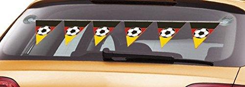 Onbekend 1 meter auto wimpelketting slinger voetbal met zuignap party feest