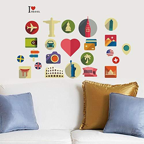 Reizen Muurstickers Betekenis Home Decor Stickers Op De Notebook Decals Koelkast Stickers Gepersonaliseerde Creatieve Koffer Stickers