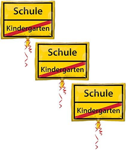 amscan 10019557 3582801-Folienballon Schulanfang, Spiel (3)