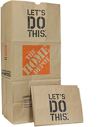 Home Depot Heavy Duty Brown Paper 30 Gallon Lawn and Refuse Bags for Home and Garden (20 Lawn Bags)